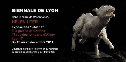 expo chiens,galerie saint charles,sculptures