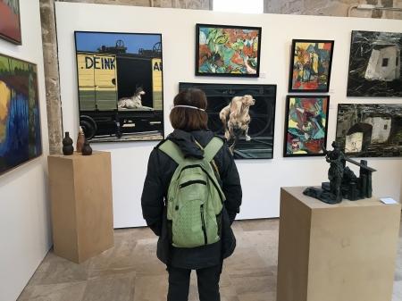 salon des artistes orléanais, chiens N°7, chiens n°8
