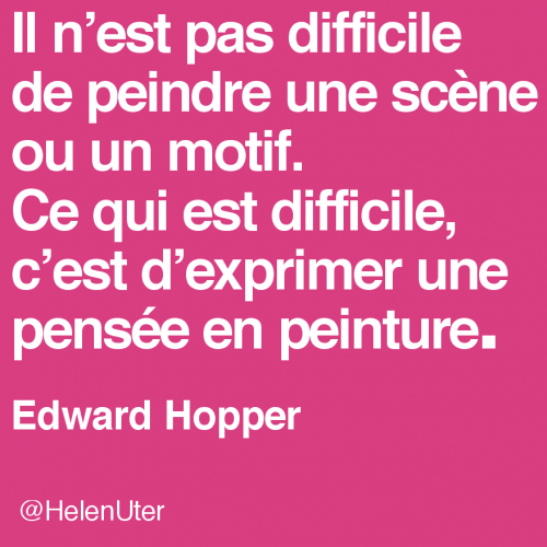 citations d'artistes,edward hopper