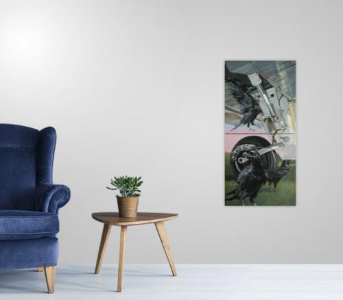 view in a room,singular,landing gear
