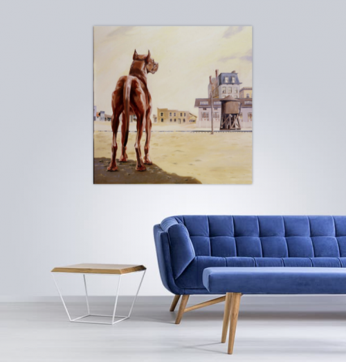 view in a room,singular, chien N°4