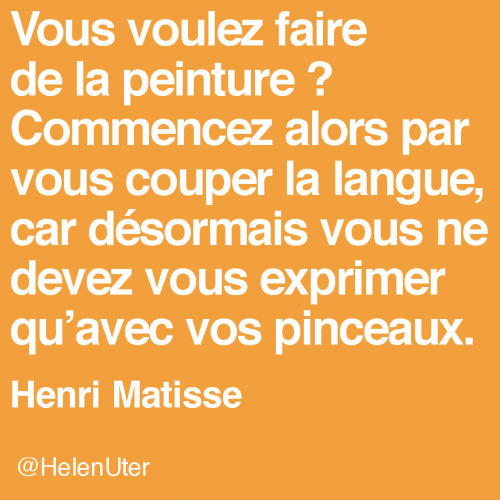 citations d'artistes, matisse