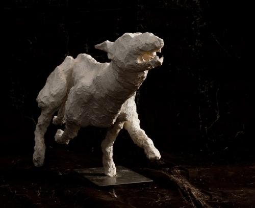 sculptures chiens