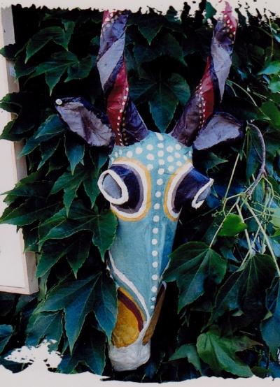 série têtes,sculpture,gnou,gazelle