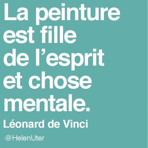citations d'artistes, de-vinci