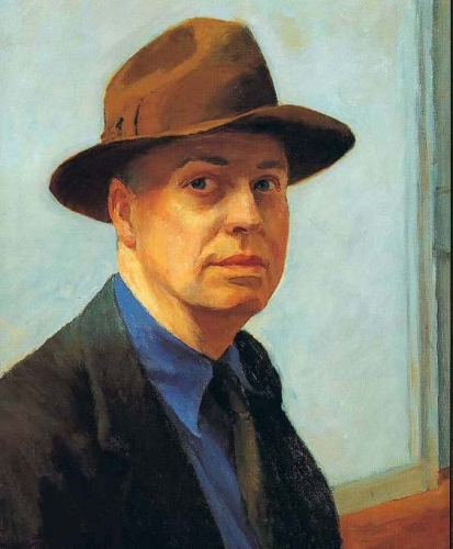 hopper autoportrait