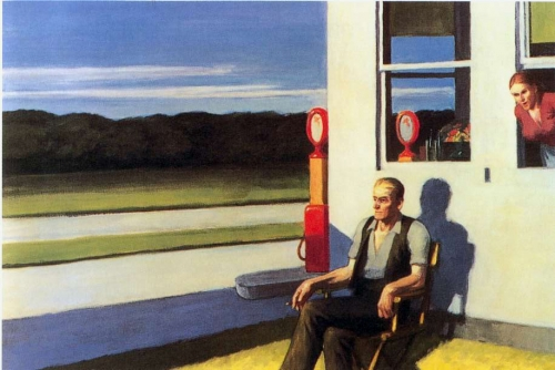 hopper,route a quatre voies
