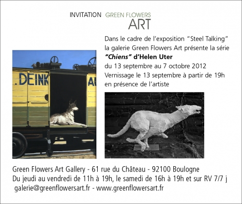 exposition,chiens,green flowers art gallery