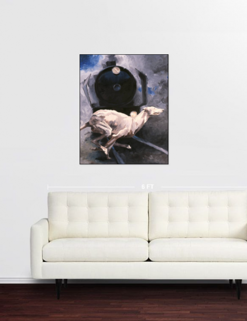 tableaux in situ,saatchi art, chien N°1