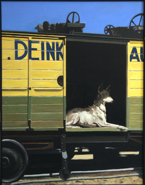 série chiens,chiens n°8,commentaires,peinture