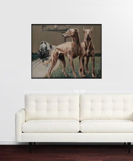 tableaux in situ,saatchi art,chien n°6