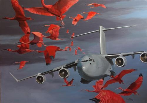 peinture,taxiway,C17,avions