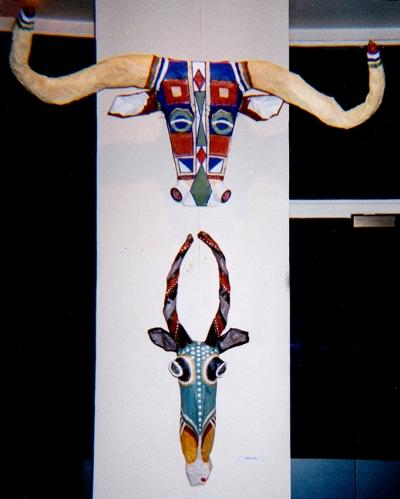 série têtes,sculpture,buffle