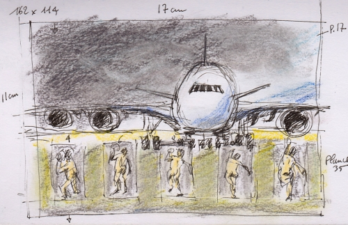esquisses,croquis,taxiway,wings,tarmac,