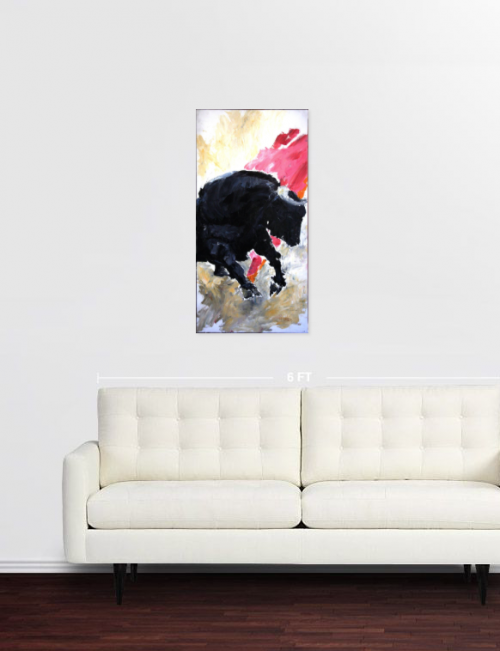 tableaux in situ,saatchi art, muleta