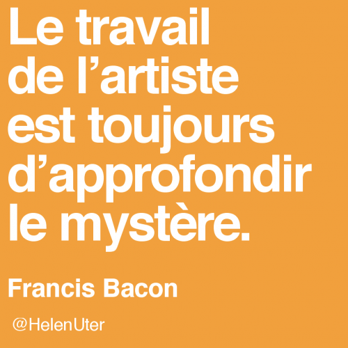citations d'artistes,francis bacon,