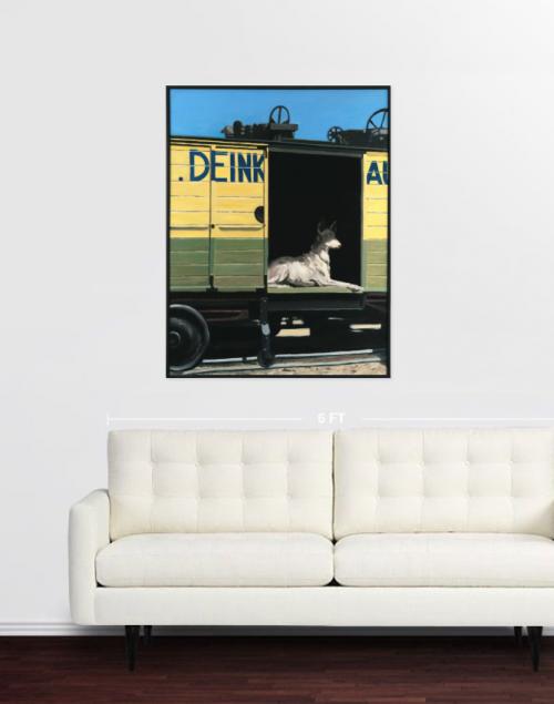 tableaux in situ,saatchi art, chien N°8